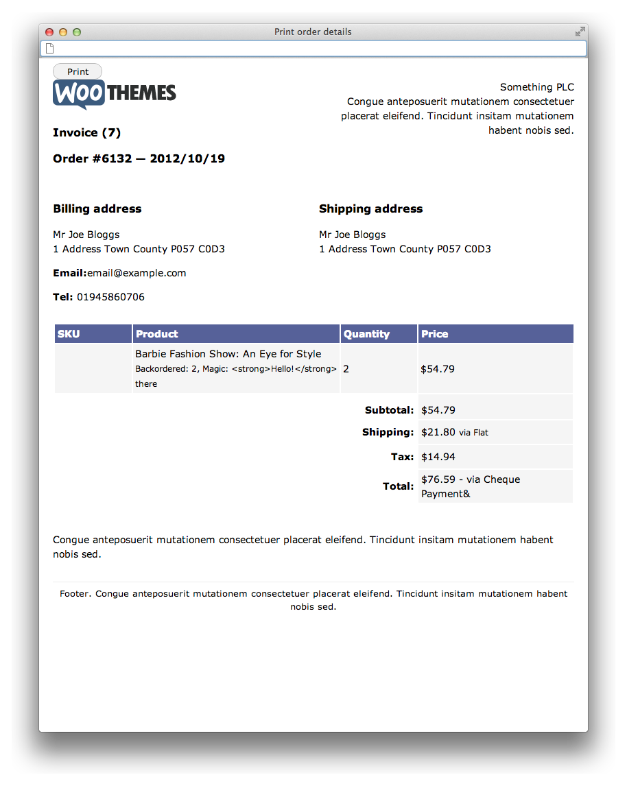 web design invoice sample