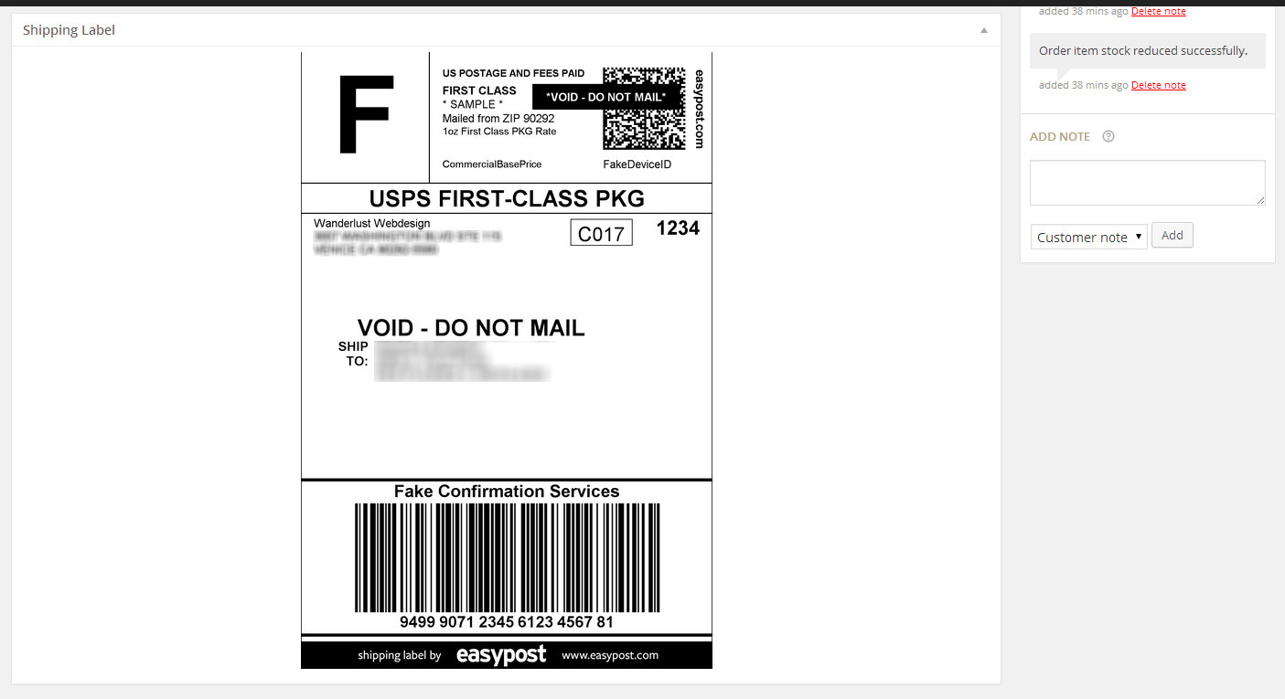 It is a graphic of Hilaire Fedex Shipping Label Login