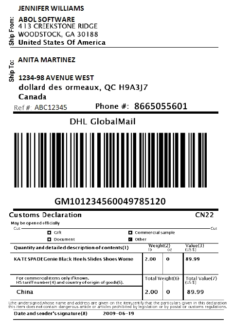 Print Dhl Express Shipping Labels Via Woocommerce