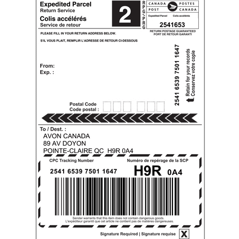 Print canada post shipping labels via woocommerce for Post it labels templates